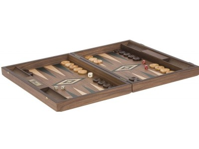 Uber Walnut Backgammon Set - Green