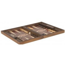 Uber Walnut Backgammon Set - Red