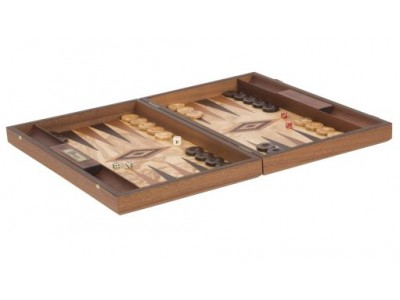 Uber Olive Burl Backgammon Set