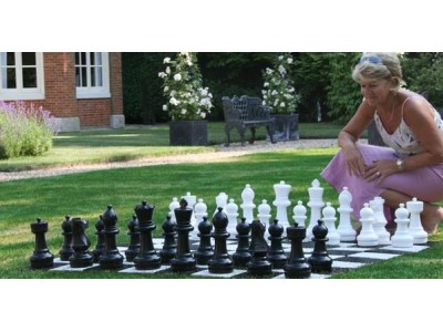 Garden Chess Pieces - 30cm Plastic